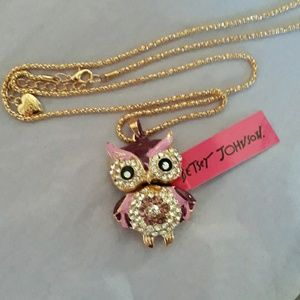 Betsey Johnson Owl Necklace